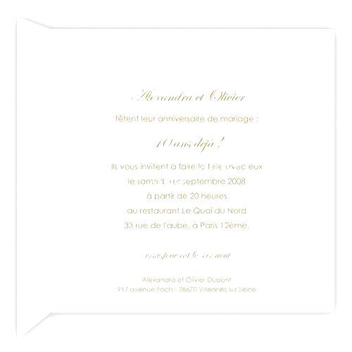 Texte invitation diner anniversaire