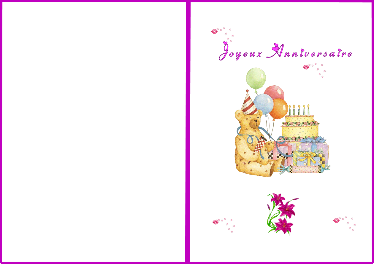 Carte Anniversaire Fille A Imprimer Gratuitement Elevagequalitetouraine