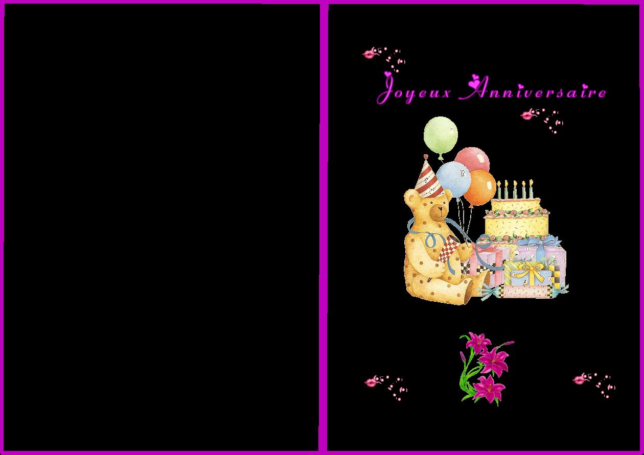 Carte Anniversaire Fille Gratuite A Imprimer Elevagequalitetouraine