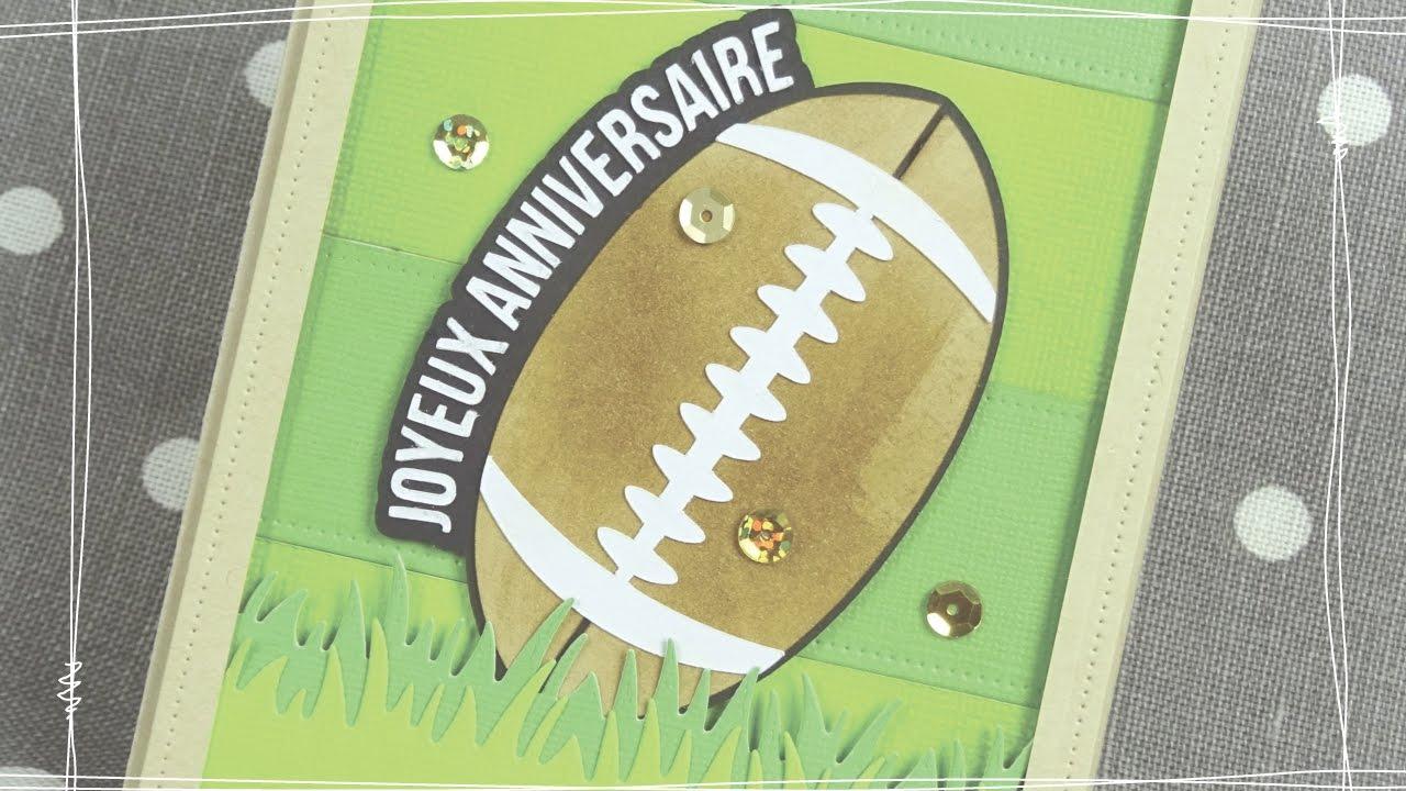 Carte anniversaire rugbyman