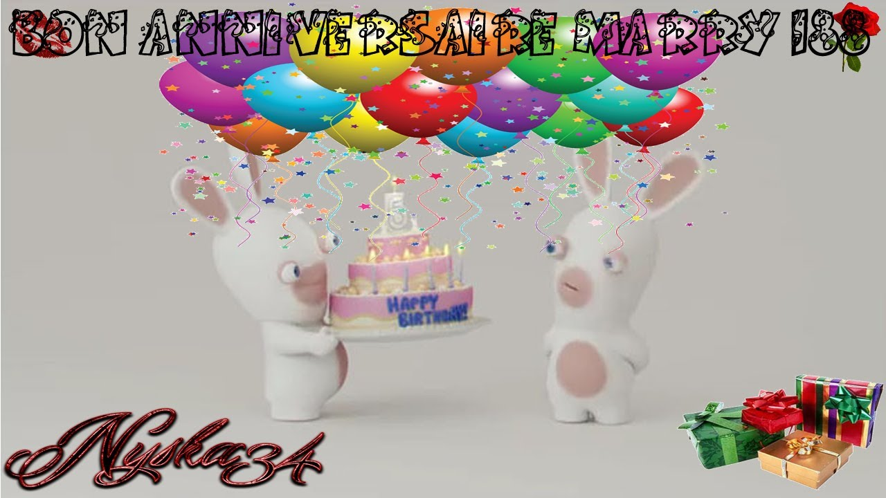 Carte anniversaire lapin crétin