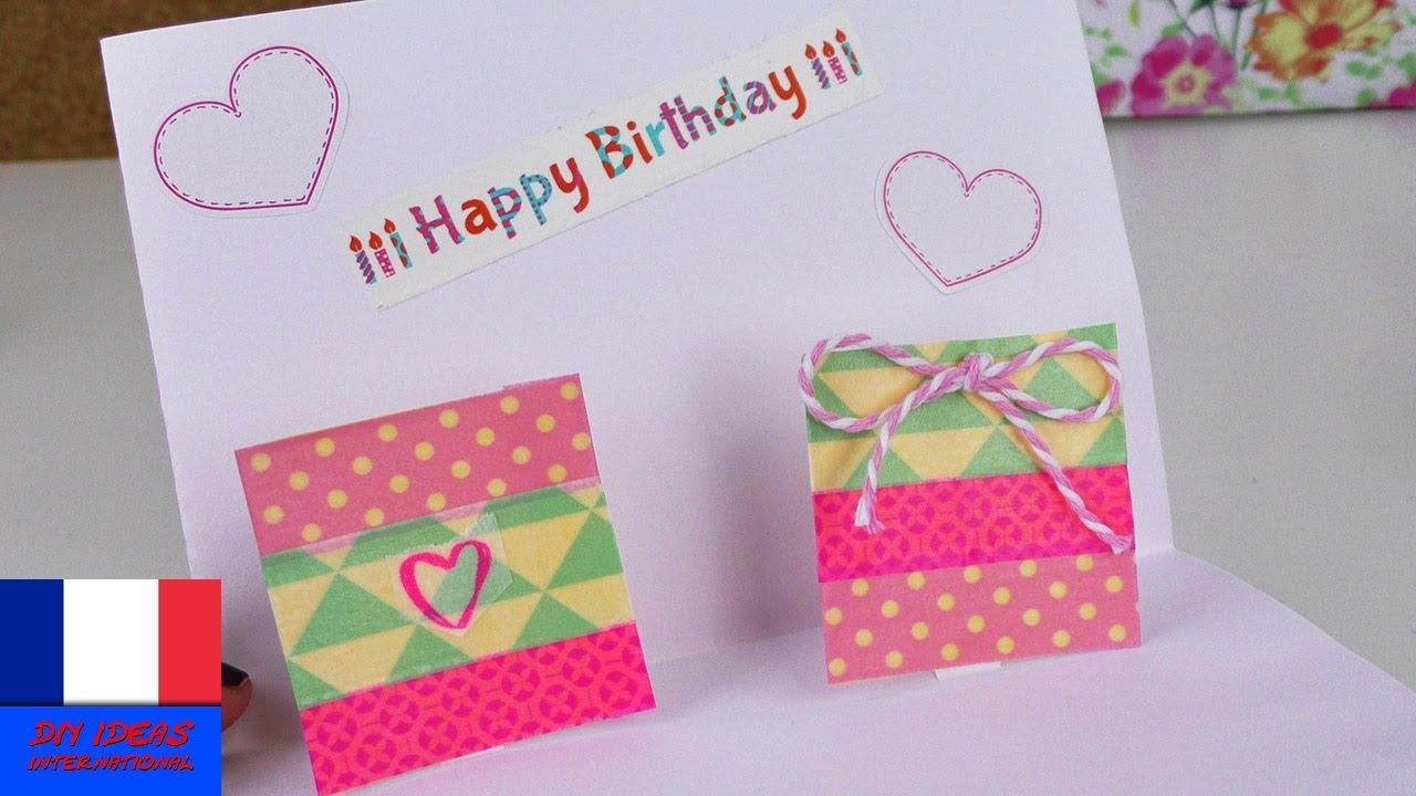 Carte anniversaire pop up à fabriquer