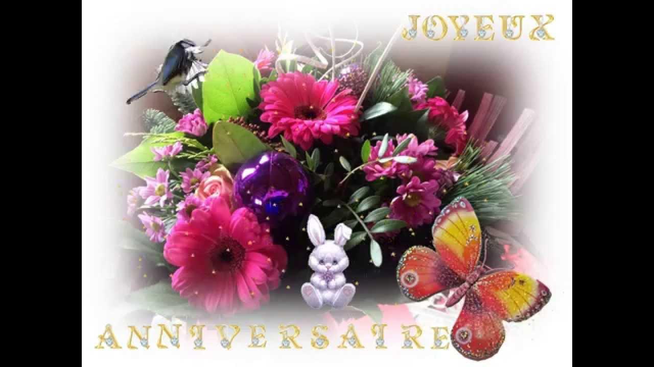 Fleur carte anniversaire