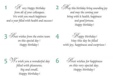 Texte en anglais anniversaire