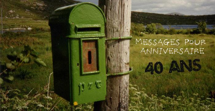 Message anniversaire frere 40 ans