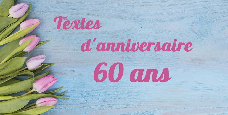 Texte anniversaire 60 ans conjoint