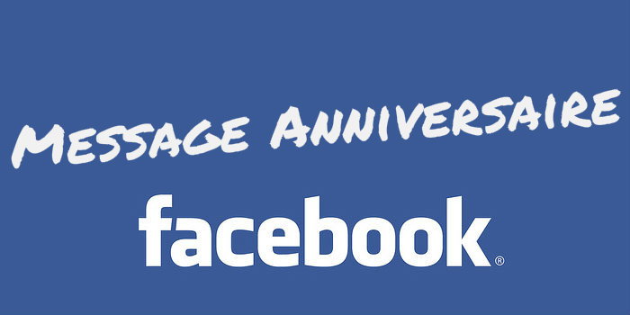 Facebook message anniversaire