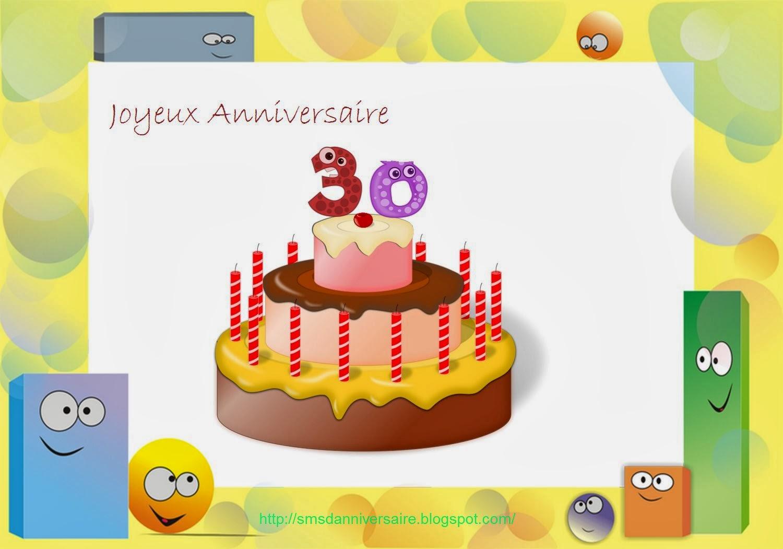 Exemple texte joyeux anniversaire 30 ans femme