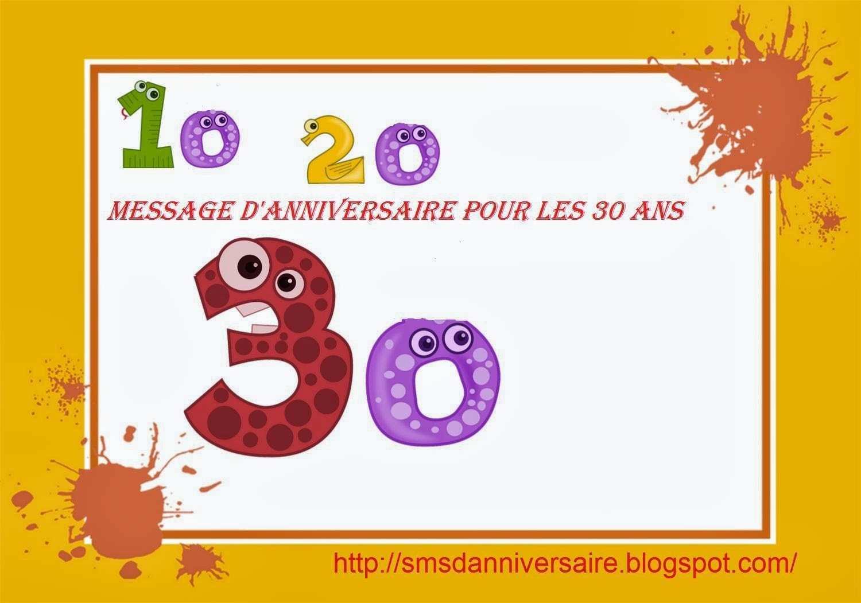 Message Anniversaire 30 Ans Mari Elevagequalitetouraine