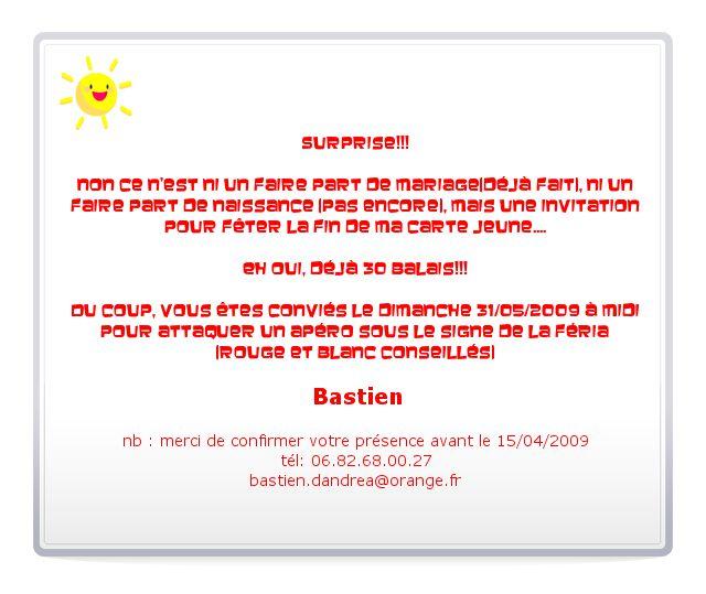 Texte invitation anniversaire facebook