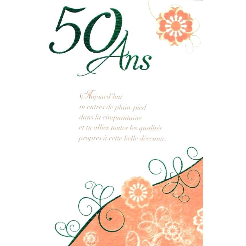 Message texte anniversaire 50 ans