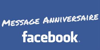 Message remerciement facebook anniversaire