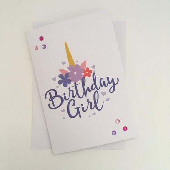 Carte anniversaire licorne facebook