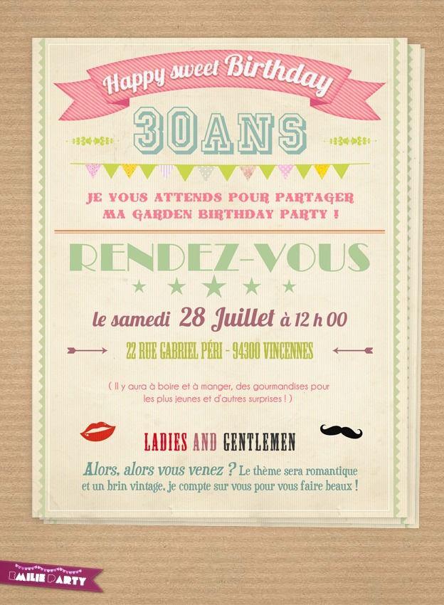Carte Invitation Anniversaire Gratuite A Imprimer Adulte 30 Ans Elevagequalitetouraine