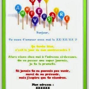 Texte invitation anniversaire mere et fille