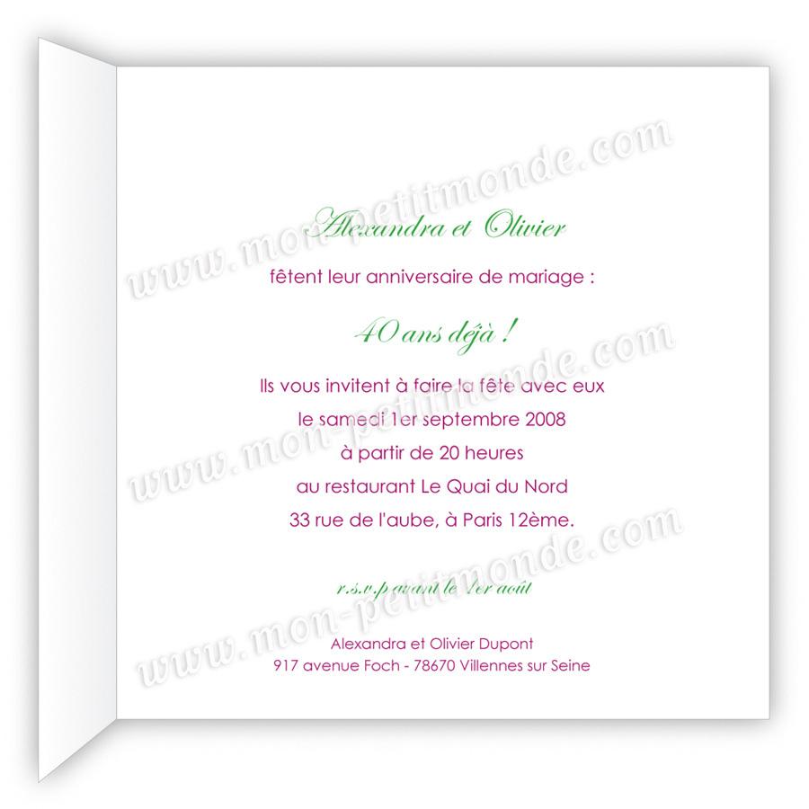 Texte pour carte d'invitation anniversaire 70 ans