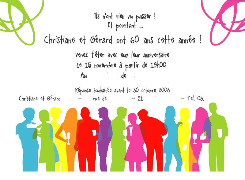 Texte invitation anniversaire 20 ans humoristique