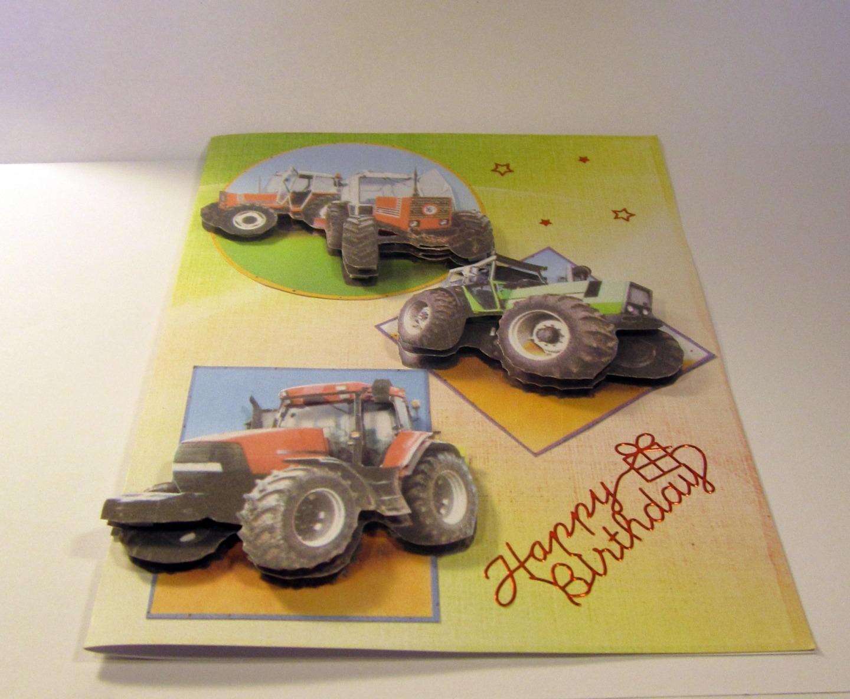 Carte anniversaire a imprimer tracteur