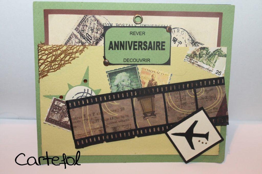 Carte d anniversaire voyage