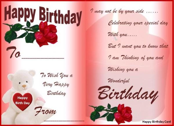 Exemple de carte joyeux anniversaire