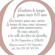 Texte invitation anniversaire 60ans
