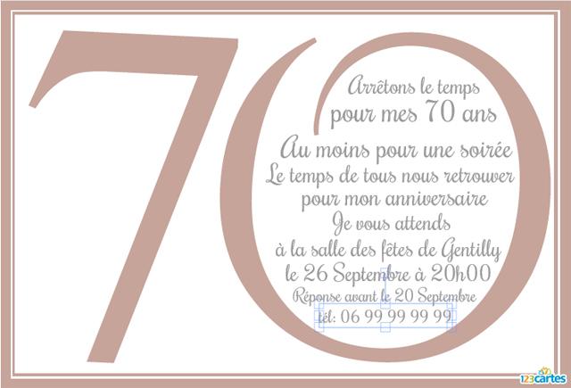 Texte pour carte invitation anniversaire 80 ans