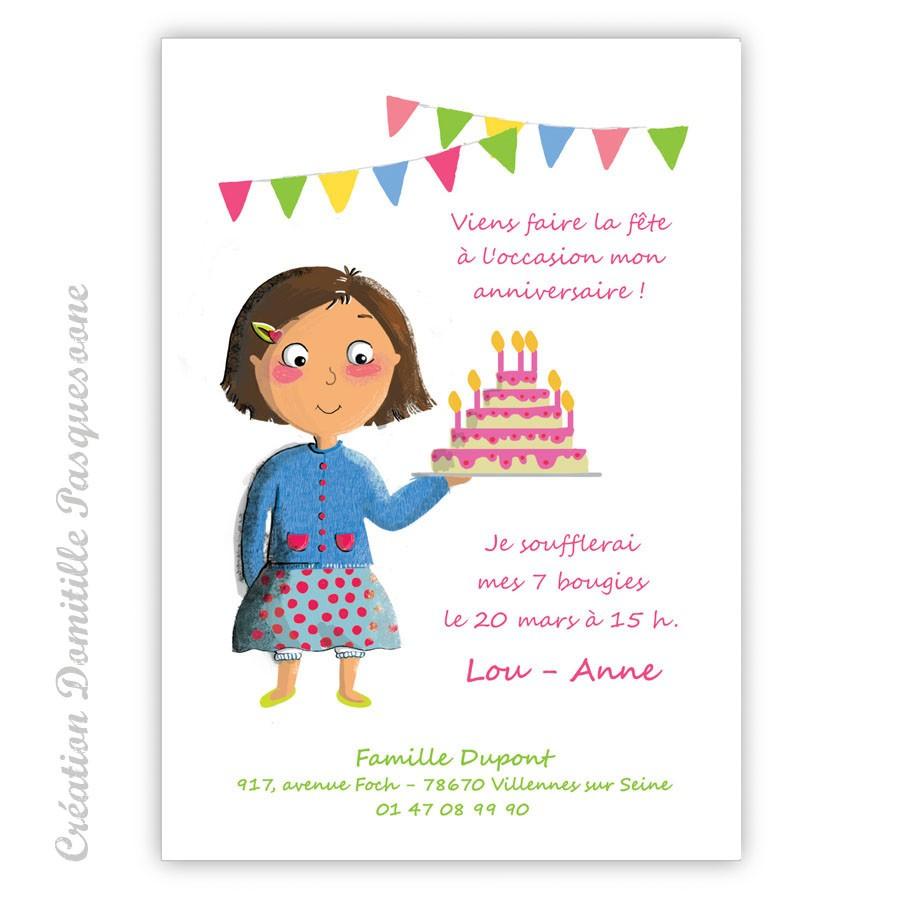 Modele carte invitation anniversaire enfant
