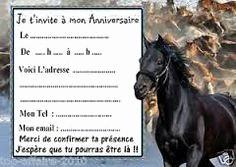 Carte anniversaire gratuite cheval