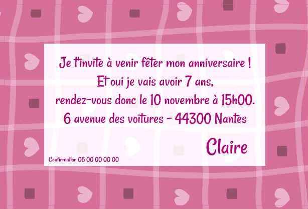 Modele De Carte D Invitation Pour Un Anniversaire Elevagequalitetouraine