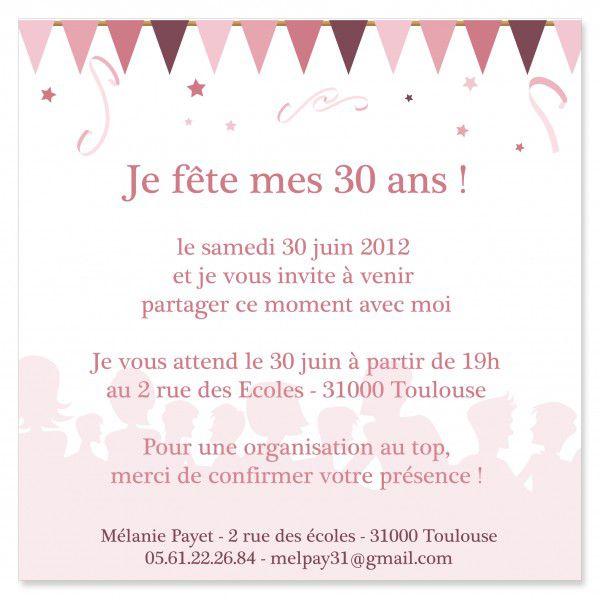 Texte carte d'invitation anniversaire 12 ans