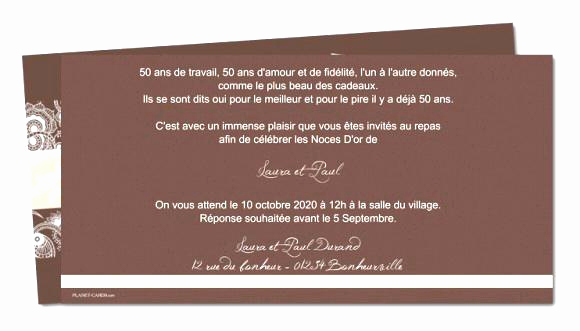 Exemple carte d'invitation anniversaire 50 ans