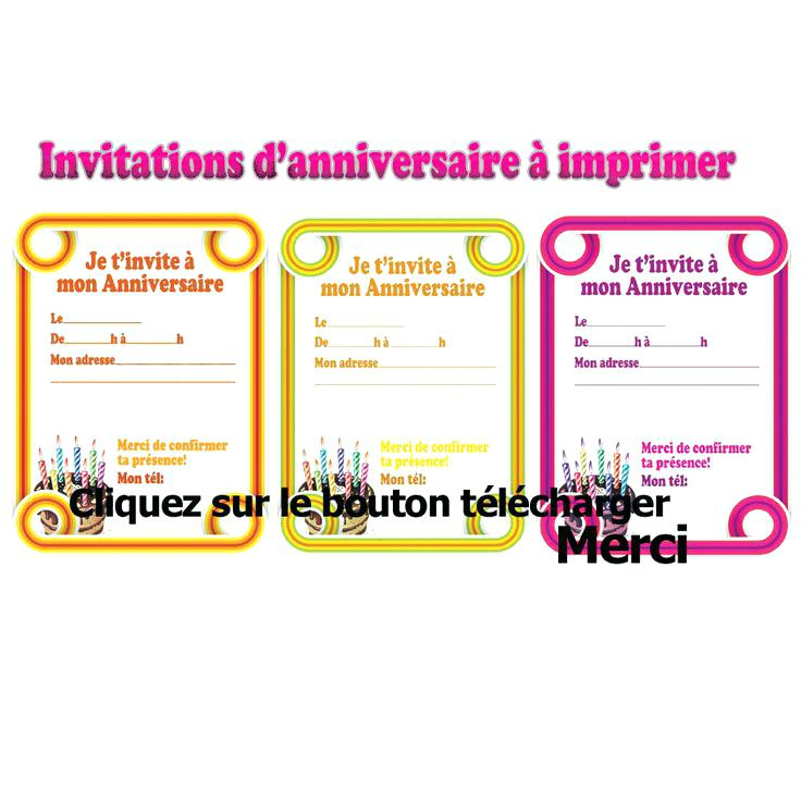 Modele Carte Invitation Anniversaire A Imprimer Elevagequalitetouraine