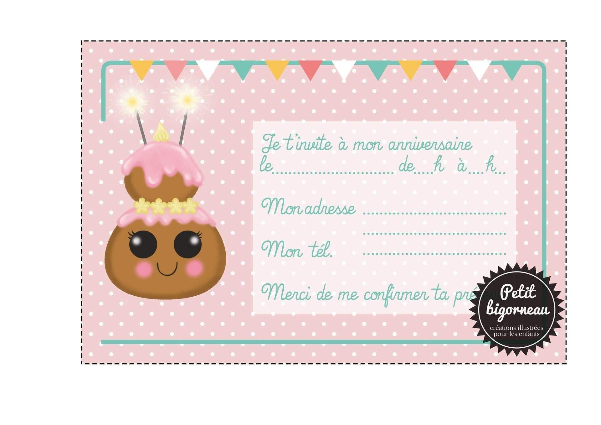 Carte d'invitation anniversaire gratuite jolie carte