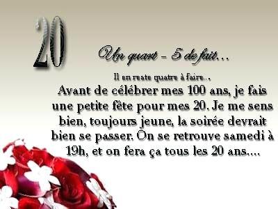 Message Joyeux Anniversaire 20ans Elevagequalitetouraine