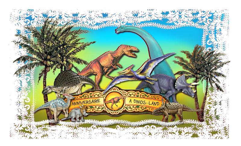 Carte dinosaure anniversaire