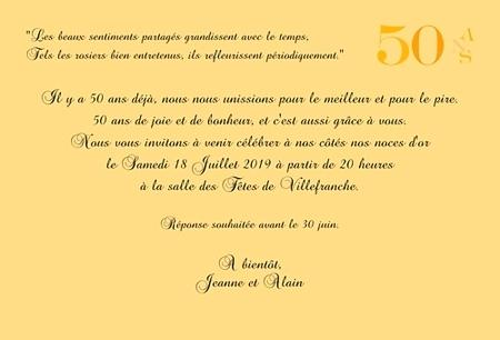Texte Pour Carte Anniversaire 50 Ans Mariage Elevagequalitetouraine