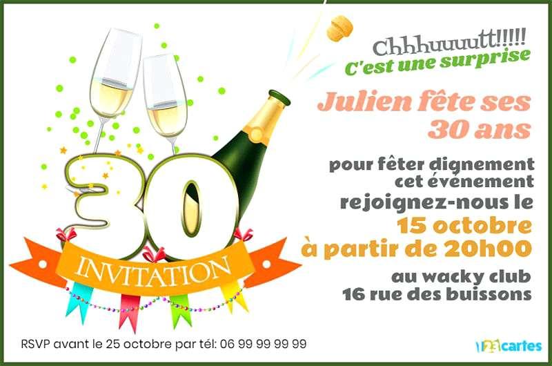 Texte Humour Invitation Anniversaire 30 Ans Elevagequalitetouraine