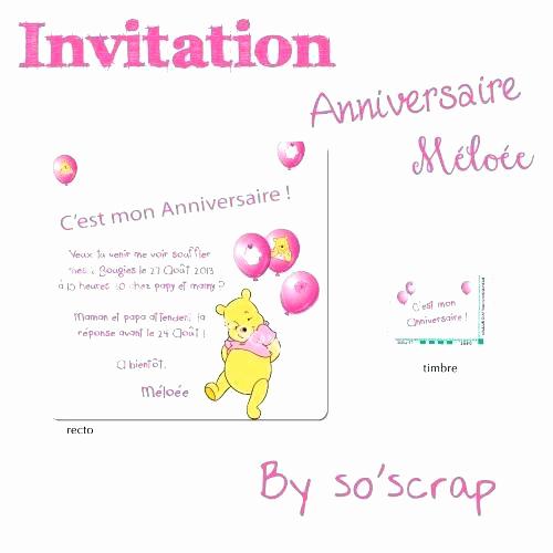 Texte invitation anniversaire 1 an bébé
