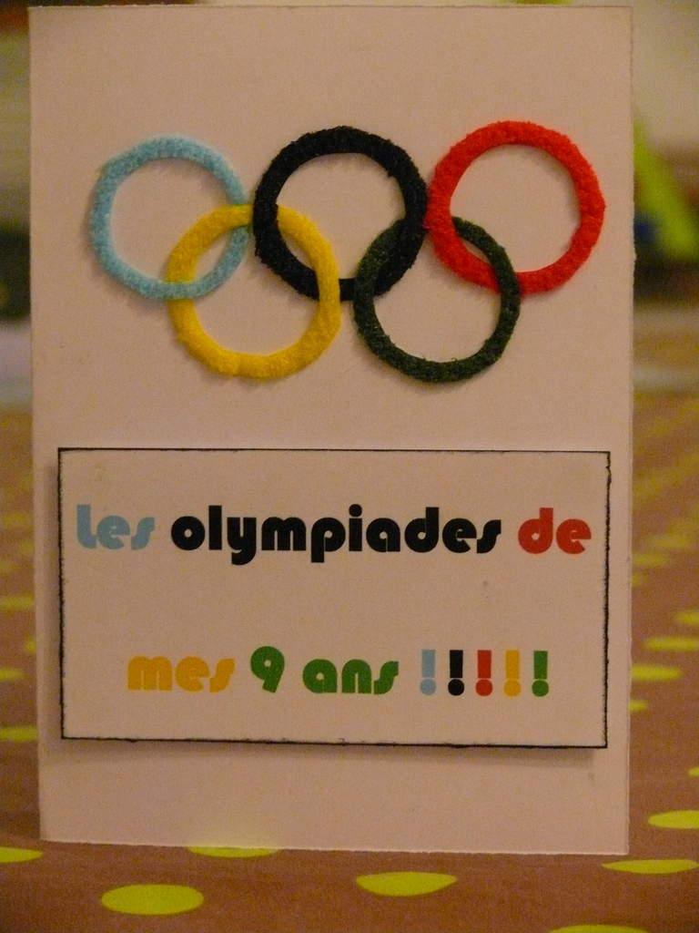 Carte invitation anniversaire sport