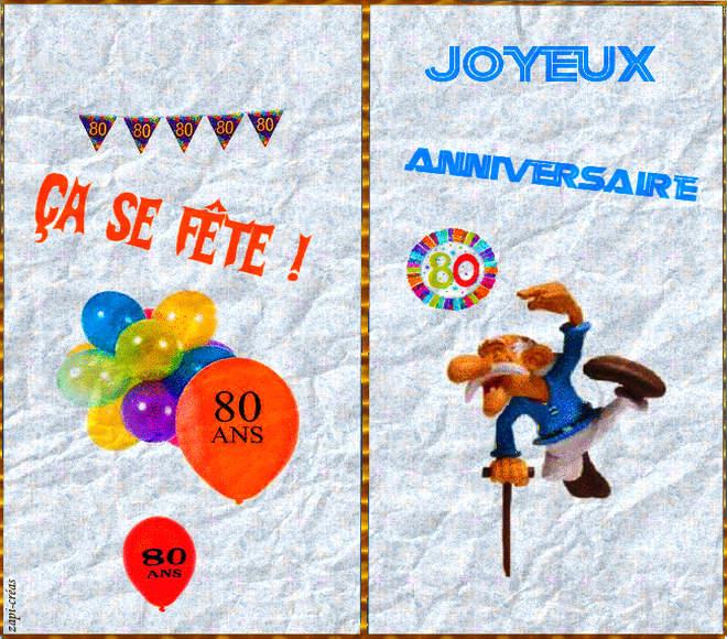 Carte anniversaire pour 80 ans