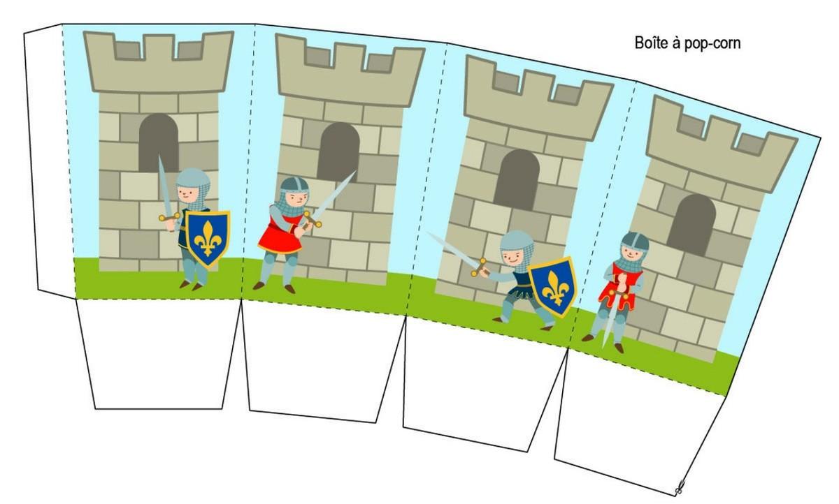 Carte anniversaire chevalier à imprimer