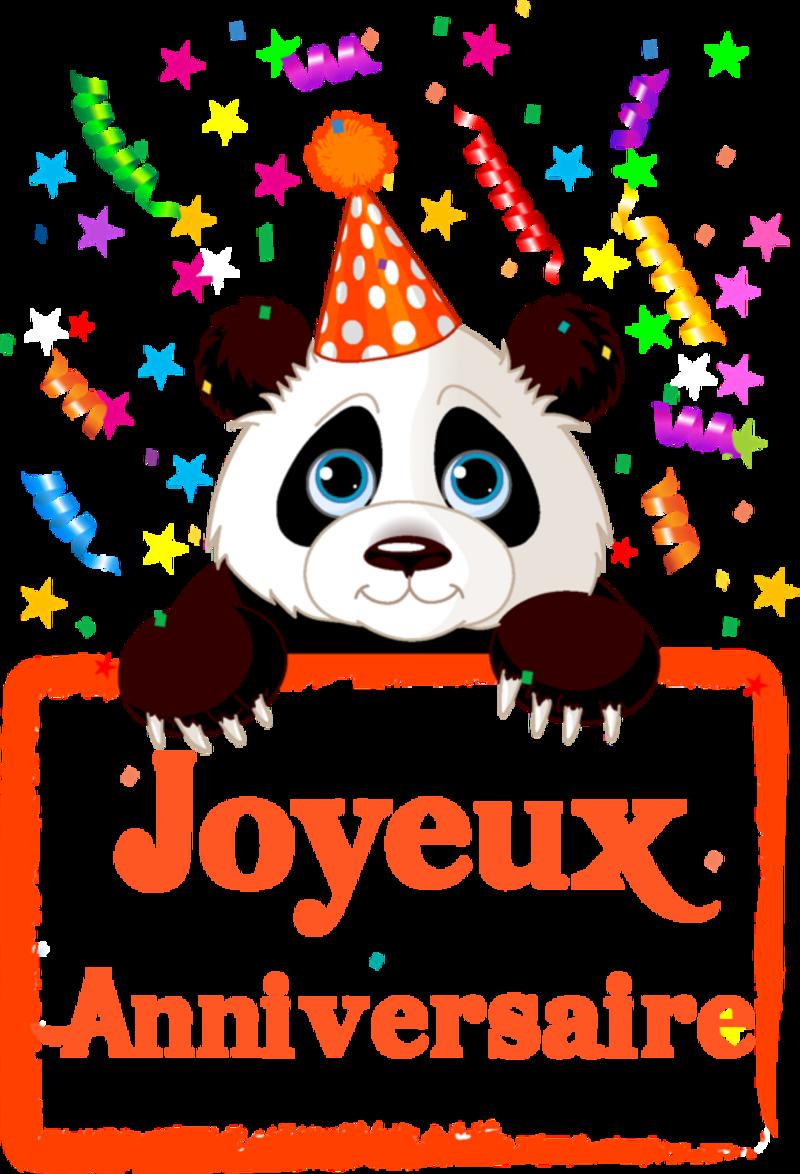 Carte anniversaire panda imprimer
