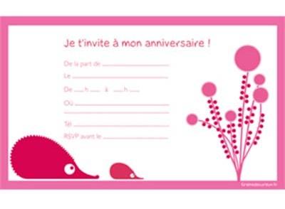 Idee carte d'invitation anniversaire