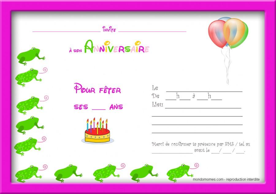 Carte Invitation Anniversaire 10 Ans A Imprimer Gratuite Elevagequalitetouraine