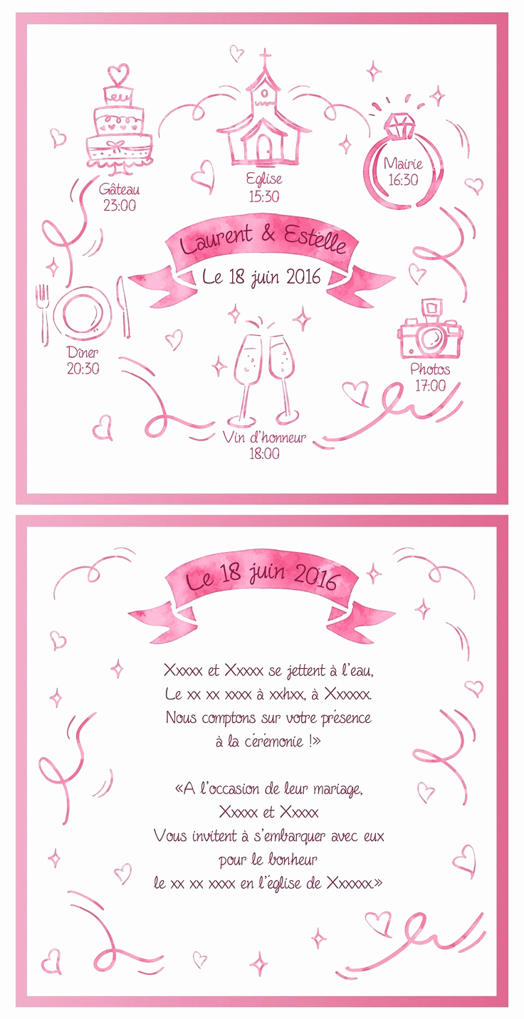 Petit message invitation anniversaire