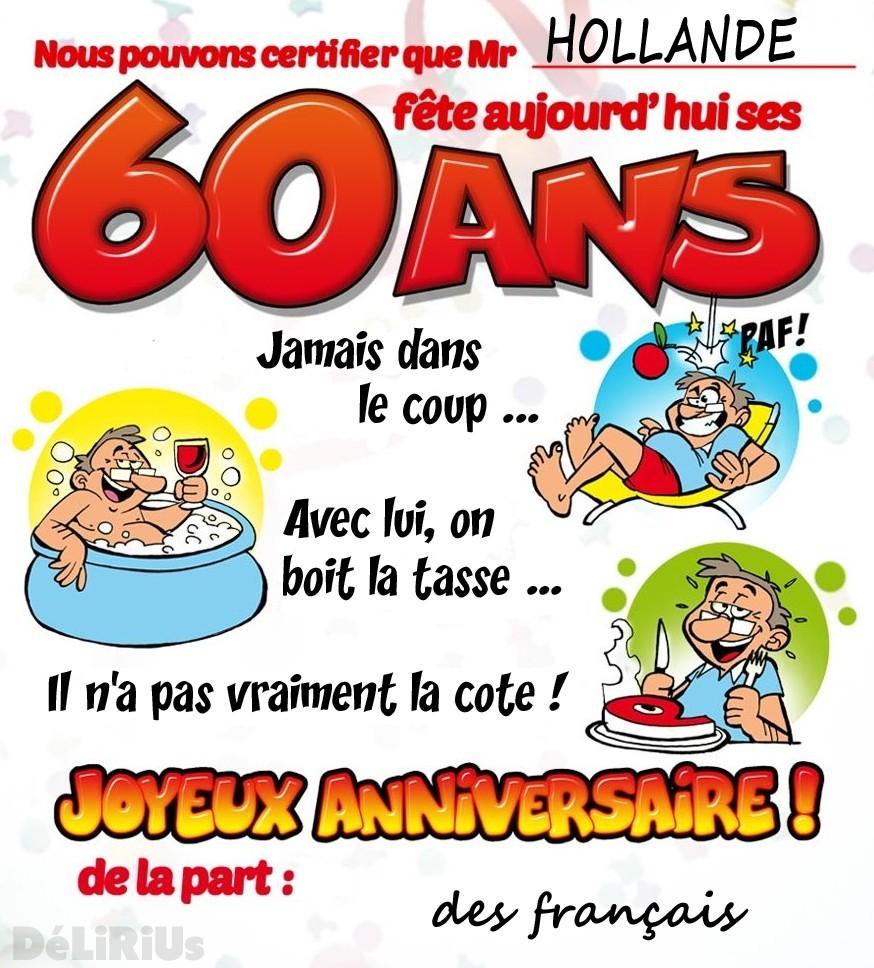 Texte anniversaire 60 ans humoristique gratuit