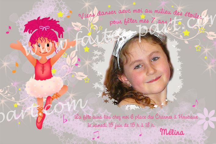 Texte d'invitation anniversaire pour ma fille