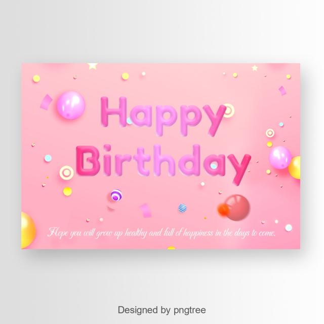 Carte joyeux anniversaire police