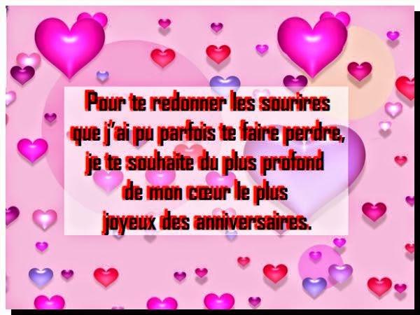 Message d'amour anniversaire de rencontre