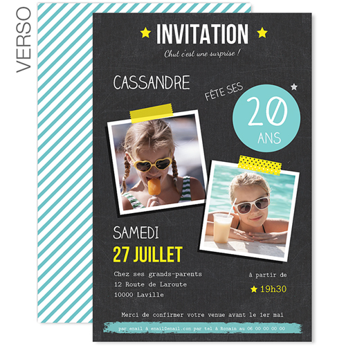 Carte anniversaire surprise 20 ans